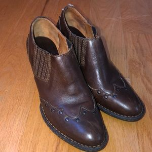 Born Western Brown Ankle Boots
